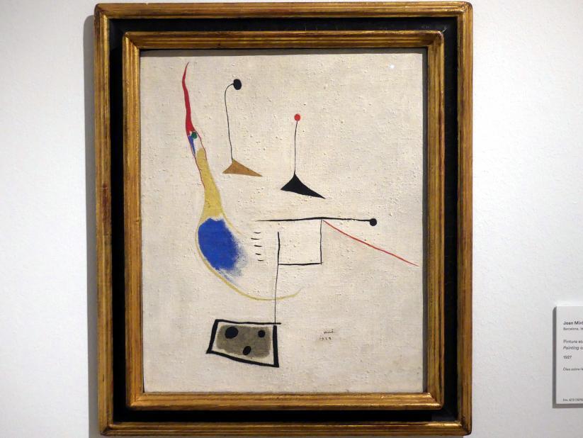 Joan Miró: Gemälde auf grauem Grund, 1927