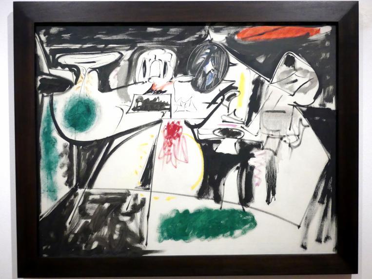 Arshile Gorky: Letztes Gemälde (Der schwarze Mönch), 1948