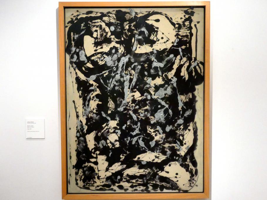 Jackson Pollock: Braun und Silber I, um 1951