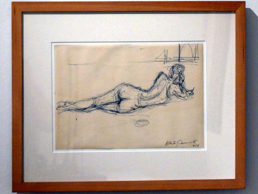 Alberto Giacometti: Rückseitiger liegender Akt, 1959