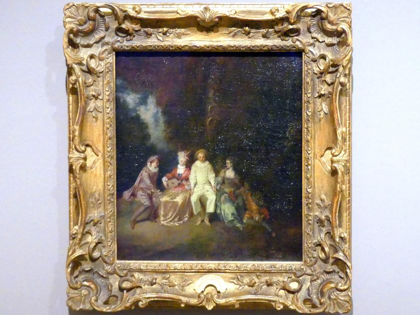 Antoine Watteau (Jean-Antoine Watteau): Der glückliche Pierrot, um 1712