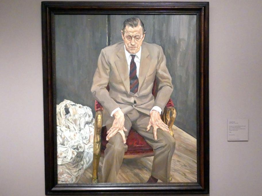 Lucian Freud: Mann auf einem Stuhl (Porträt von Baron Hans Heinrich Thyssen-Bornemisza), 1985