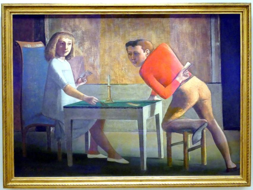 Balthus (Balthasar Kłossowski de Rola): Kartenspiel, 1948 - 1950