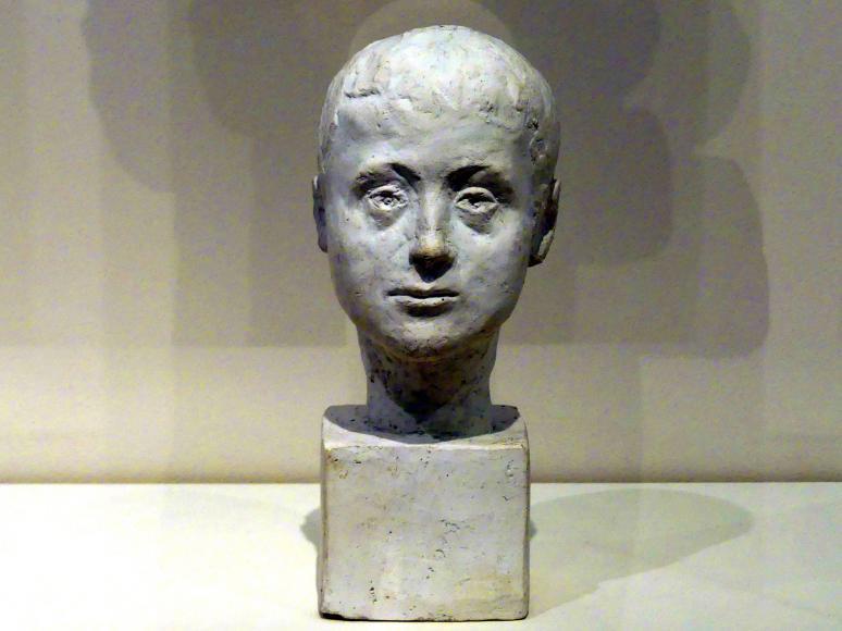 Alberto Giacometti: Büste Bruno Giacometti als Kind, um 1917