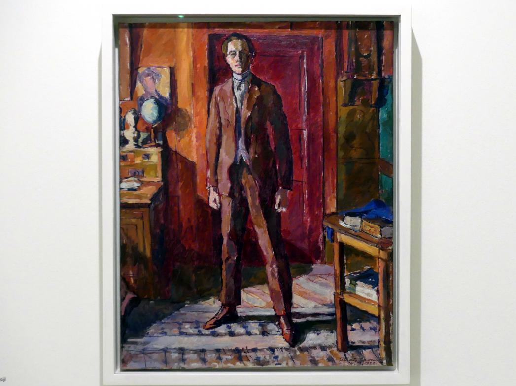 Alberto Giacometti: Diego im Wohnzimmer stehend in Stampa, 1922