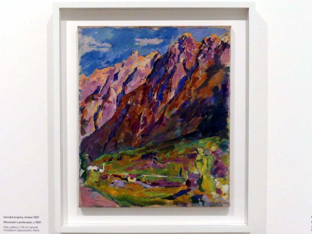 Alberto Giacometti: Berglandschaft, um 1921