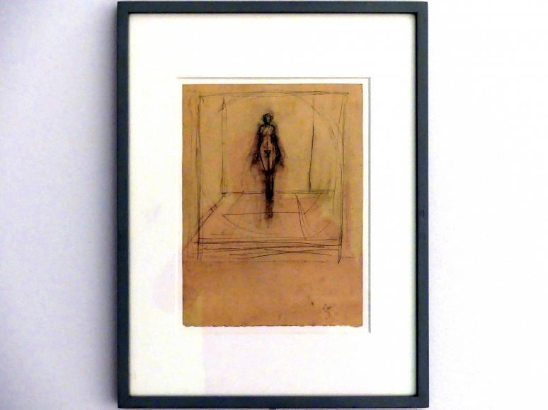 Alberto Giacometti: Stehender Akt in Kreis und Rahmen, um 1942
