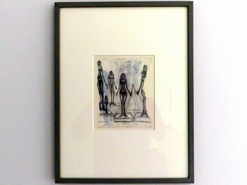 Alberto Giacometti: Fünf Frauen auf Podesten, Undatiert