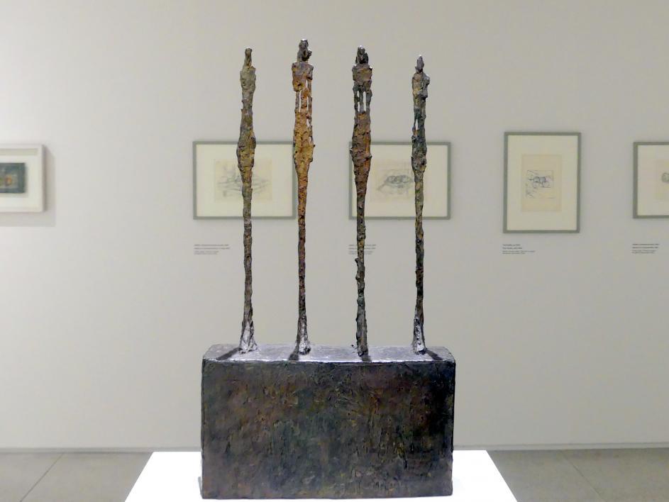 Alberto Giacometti: Vier Frauen auf einem Podest, 1950