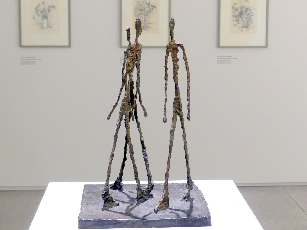 Alberto Giacometti: Drei Männer schreitend, kleines Quadrat, 1948
