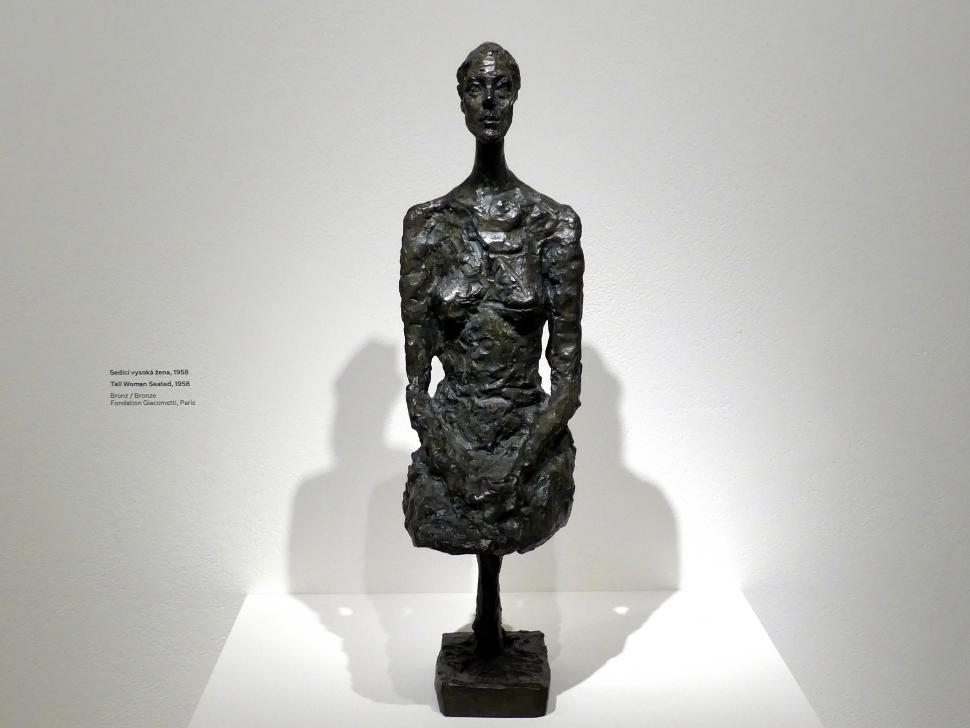 Alberto Giacometti: Große Frau sitzend, 1958