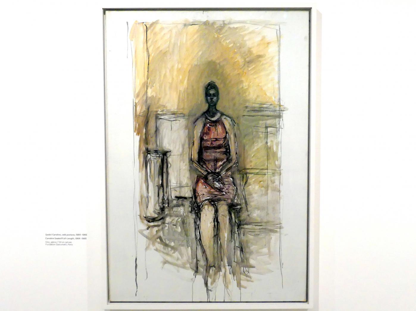 Alberto Giacometti: Caroline sitzend in Ganzfigur, 1964 - 1965