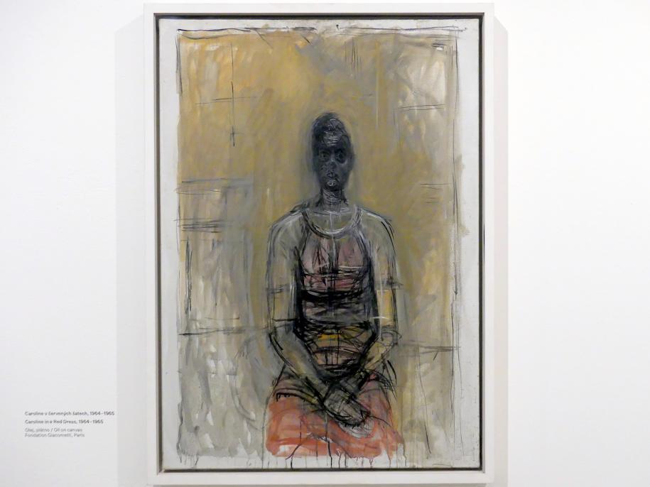 Alberto Giacometti: Caroline in rotem Kleid, 1964 - 1965