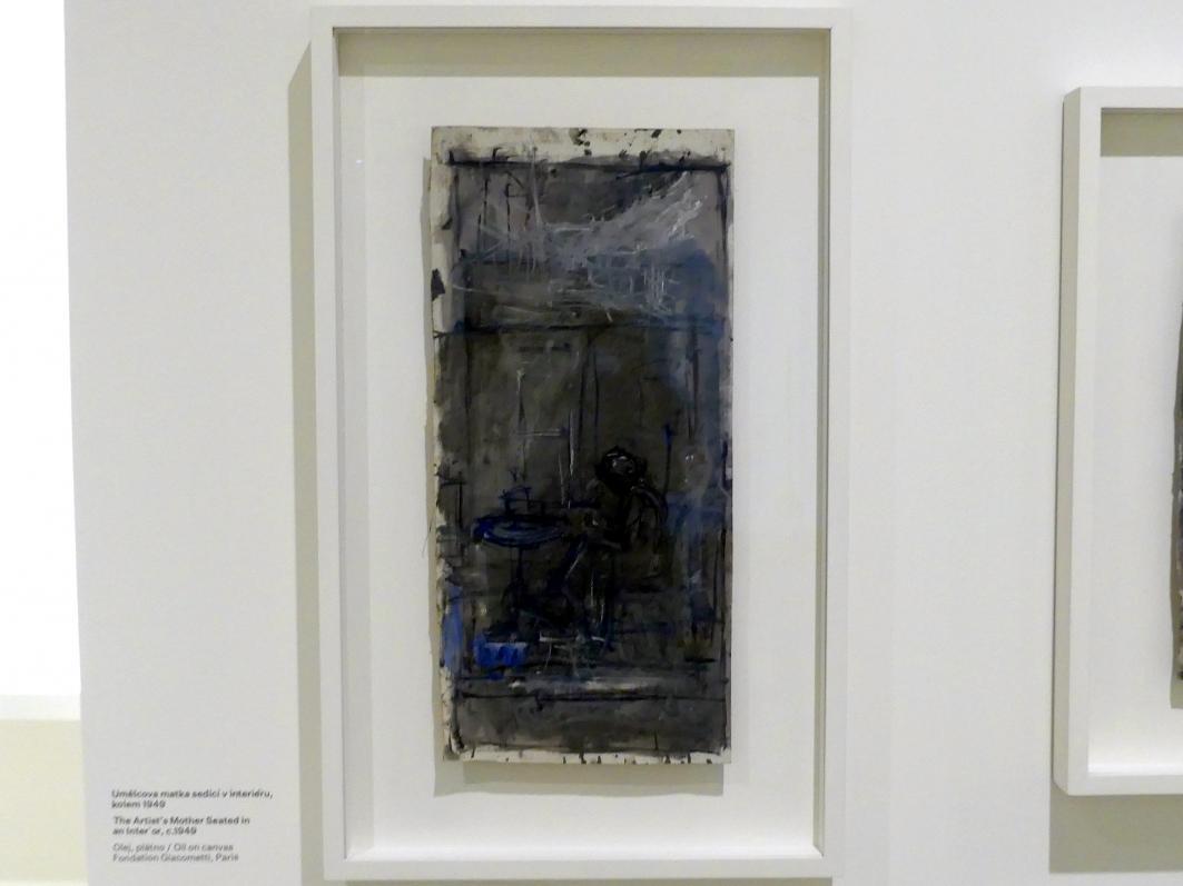 Alberto Giacometti: Die Mutter des Künstlers, in einem Interieur sitzend, um 1949