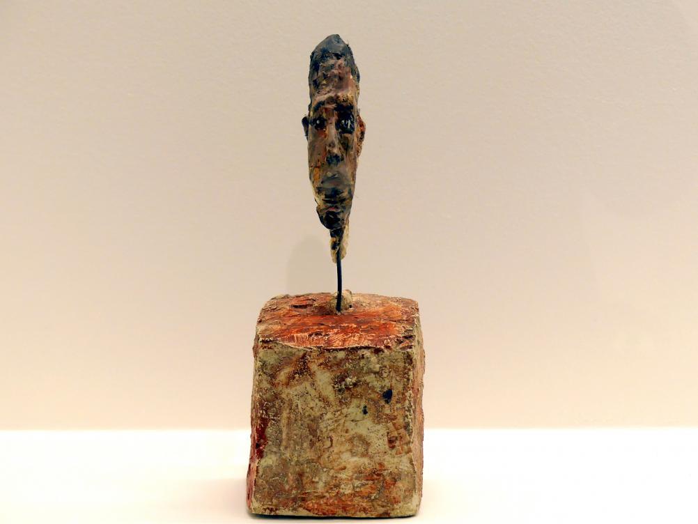 Alberto Giacometti: Kopf eines Mannes auf einem Podest, 1949 - 1951