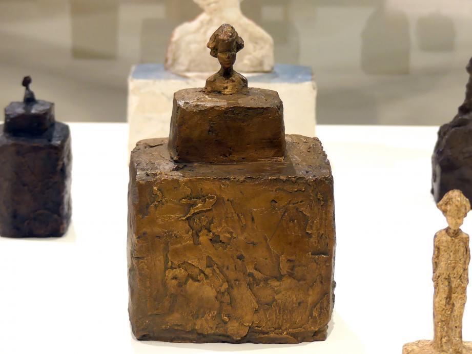 Alberto Giacometti: Kleine Büste von Silvio auf einem Doppelpodest, 1943 - 1944