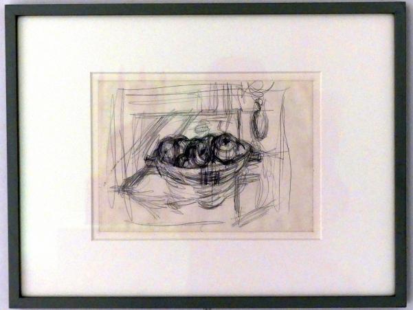 Alberto Giacometti: Äpfel in einem Kompottgericht, 1947