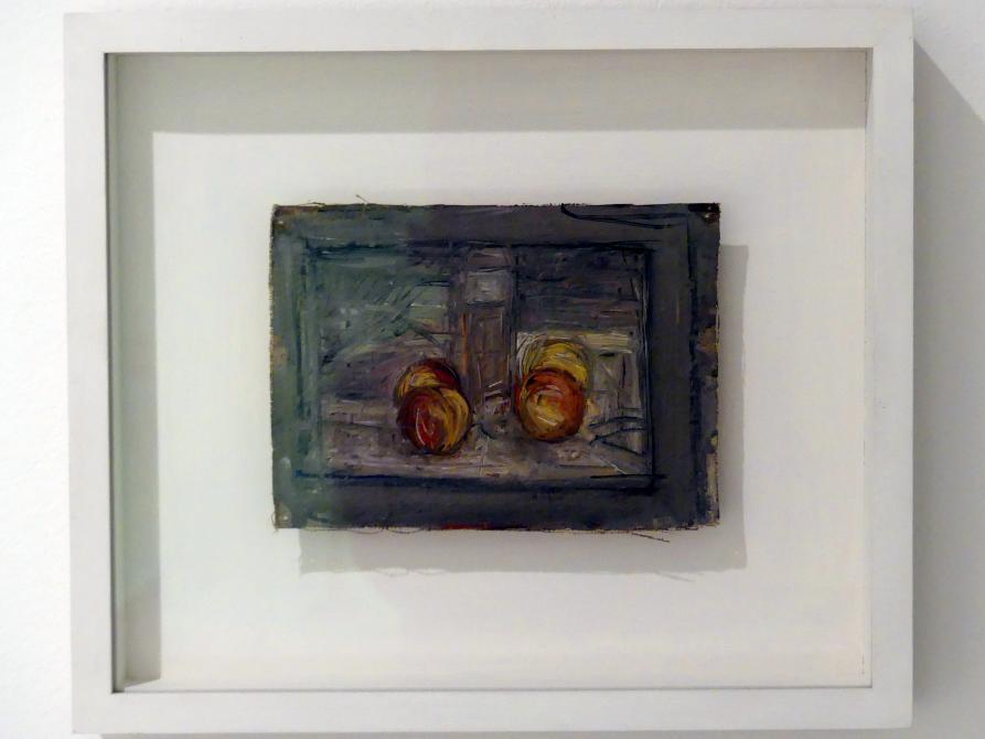 Alberto Giacometti: Vier Äpfel und ein Glass, 1948 - 1954