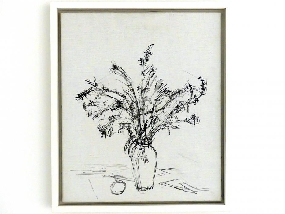 Alberto Giacometti: Blumenstrauss und ein Apfel, um 1961