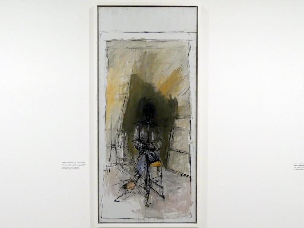 Alberto Giacometti: Isaku Yanaihara im Ganzporträt, 1957