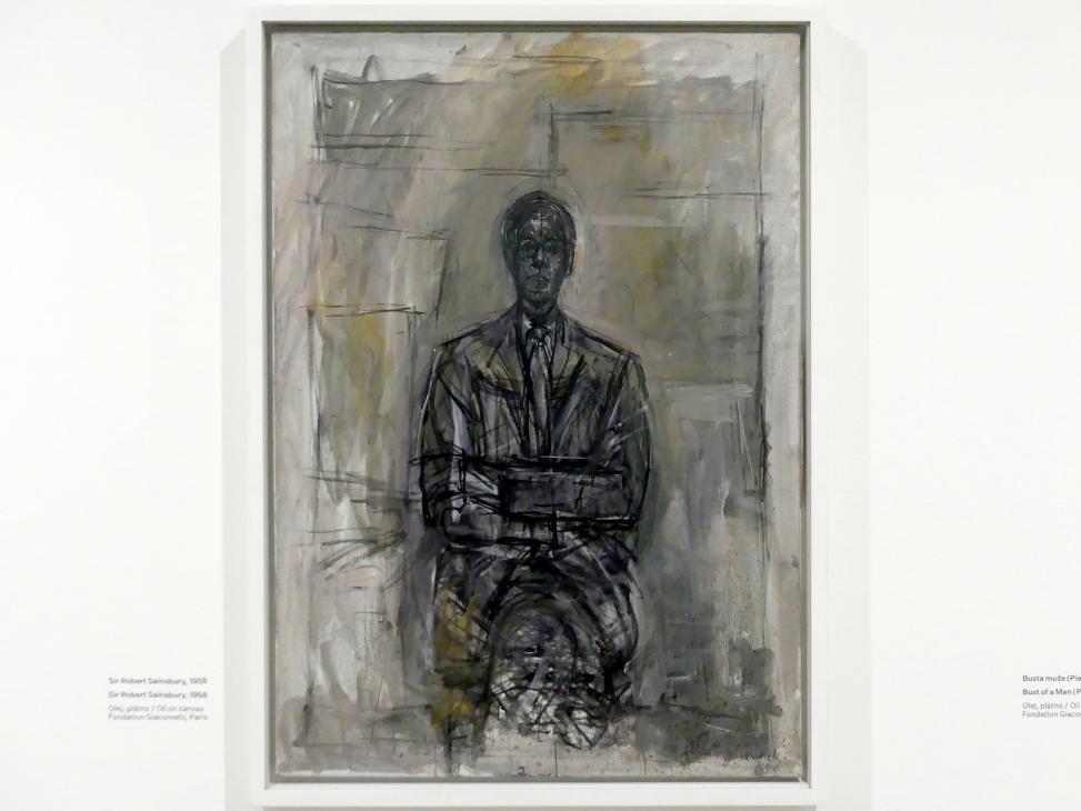 Alberto Giacometti: Sir Robert Sainsbury, 1958