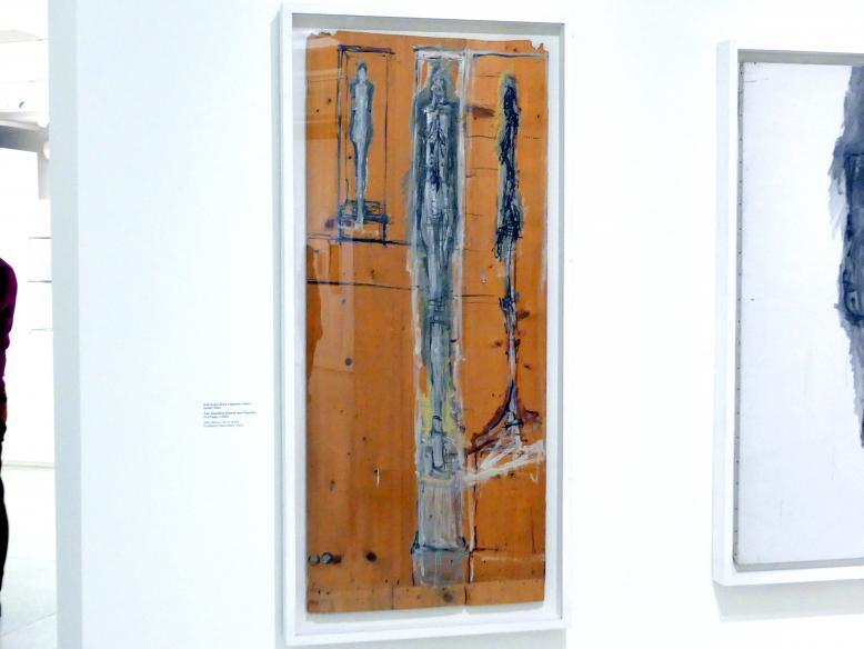 Alberto Giacometti: Zwei stehende Frauen und Statuette im Käfig, um 1950