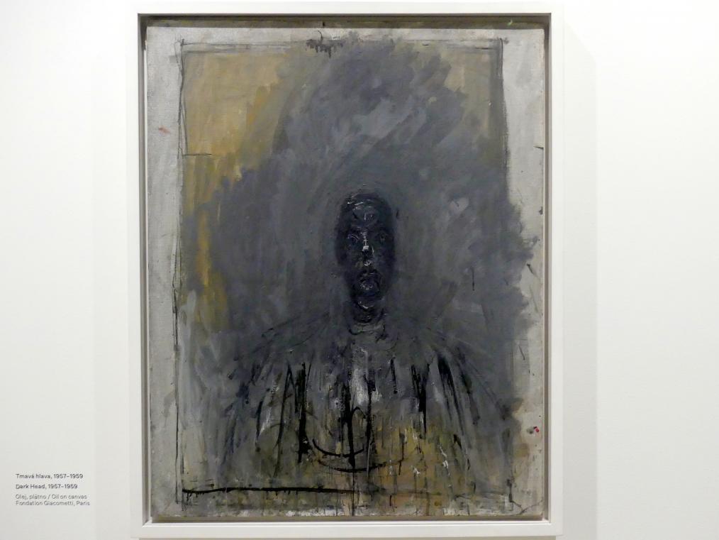 Alberto Giacometti: Dunkler Kopf, 1957 - 1959
