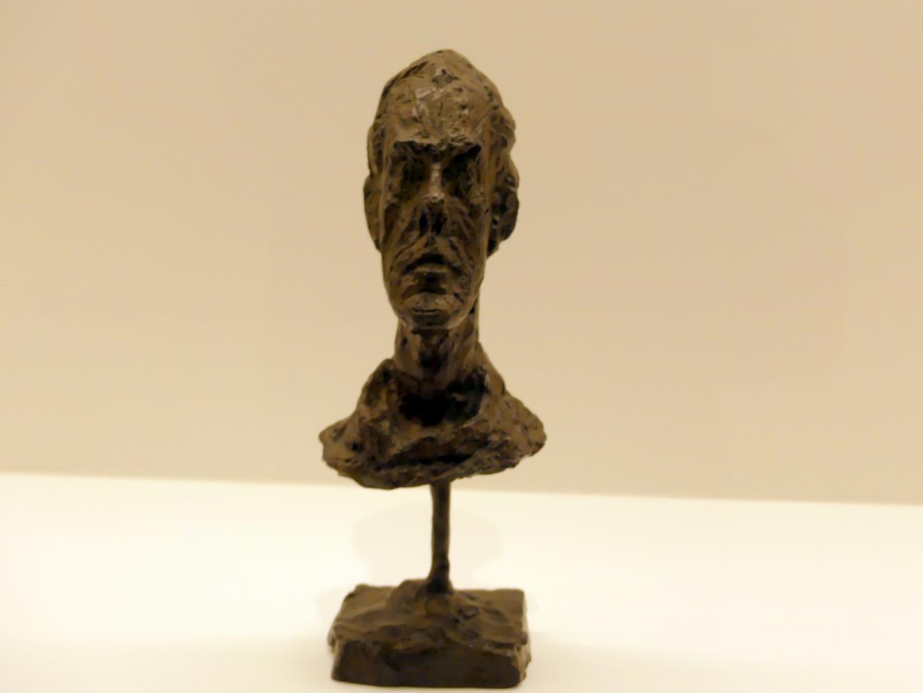 Alberto Giacometti: Diego. Kopf mit Rollkragen, um 1954