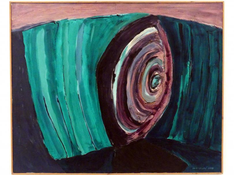 František Hodonský: Mitten in den Wasserpflanzen, 1990