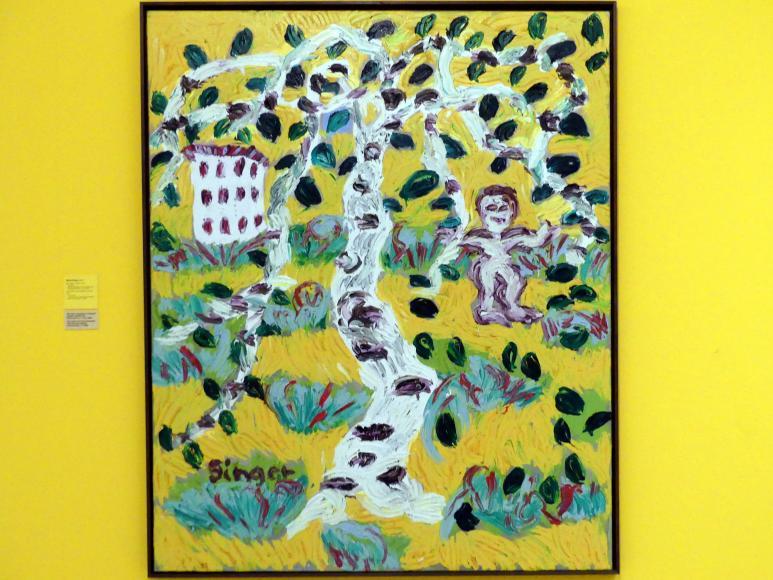 Michal Singer: Kind, Birke und der Wohnblock, 2004, Bild 1/2