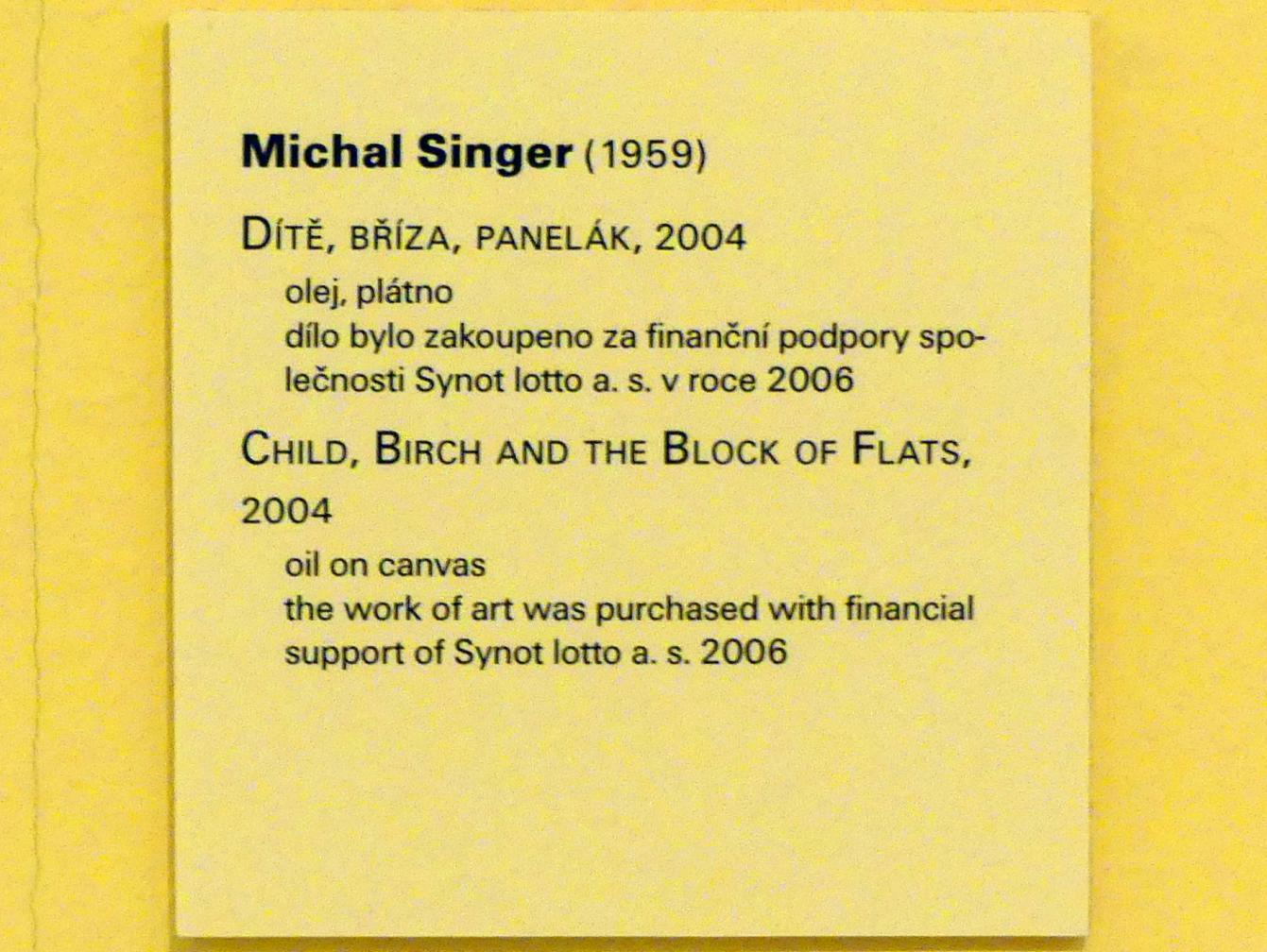 Michal Singer: Kind, Birke und der Wohnblock, 2004, Bild 2/2