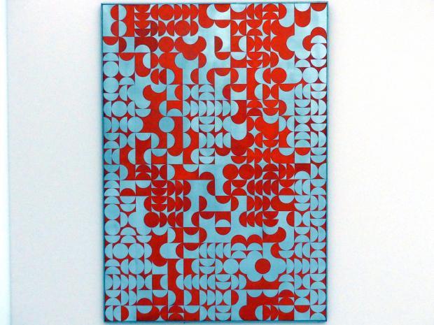 Zdeněk Sýkora: Struktur Aluminium - Rot, 1967