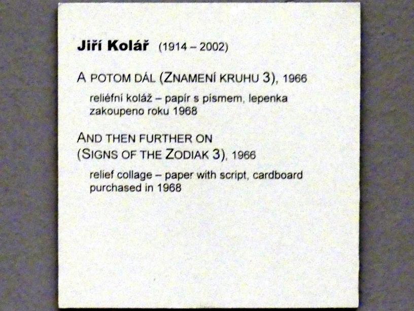 Jiří Kolář: Und dann weiter (Zeichen des Zodiak 3), 1966, Bild 2/2