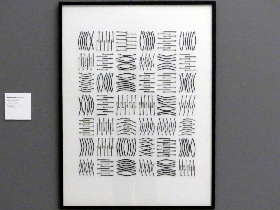 Běla Kolářová: Haarnadel-Muster, 1965