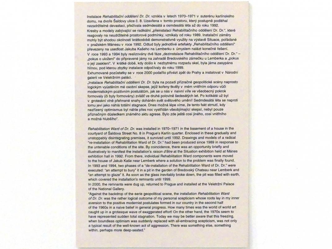 Zdeněk Beran: Rehabilitationsstation von Dr. Dr., 1970 - 1971, Bild 10/10