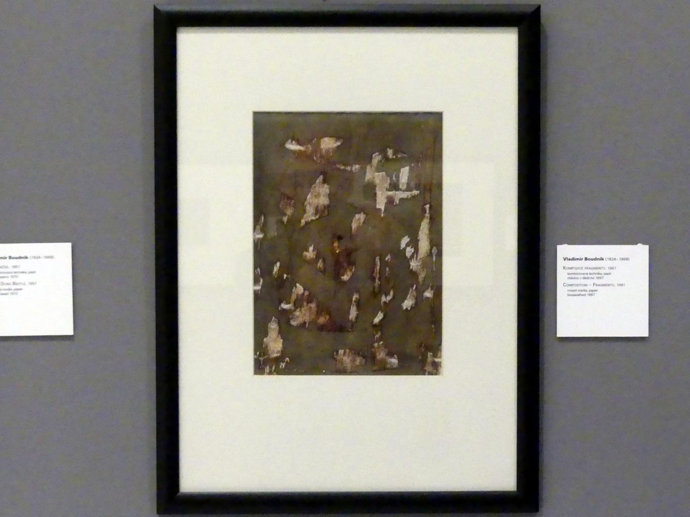 Vladimír Boudník: Komposition - Fragmente, 1961