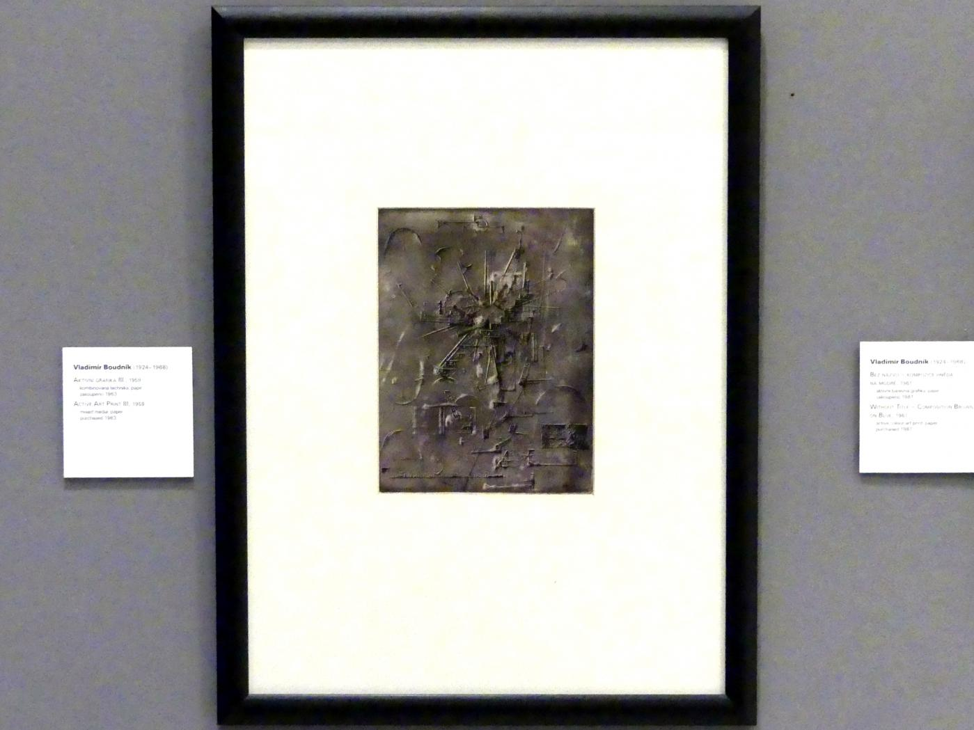 Vladimír Boudník: Aktiver Kunstdruck III, 1959
