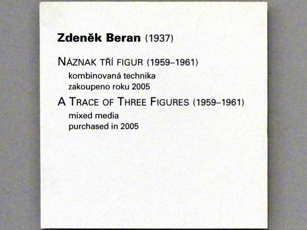 Zdeněk Beran: Spur dreier Figuren, 1959 - 1961, Bild 2/2