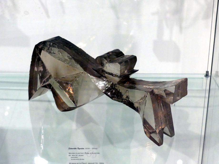 Zdeněk Šputa: Entwurf Frau mit Obst, um 1960 - 1970