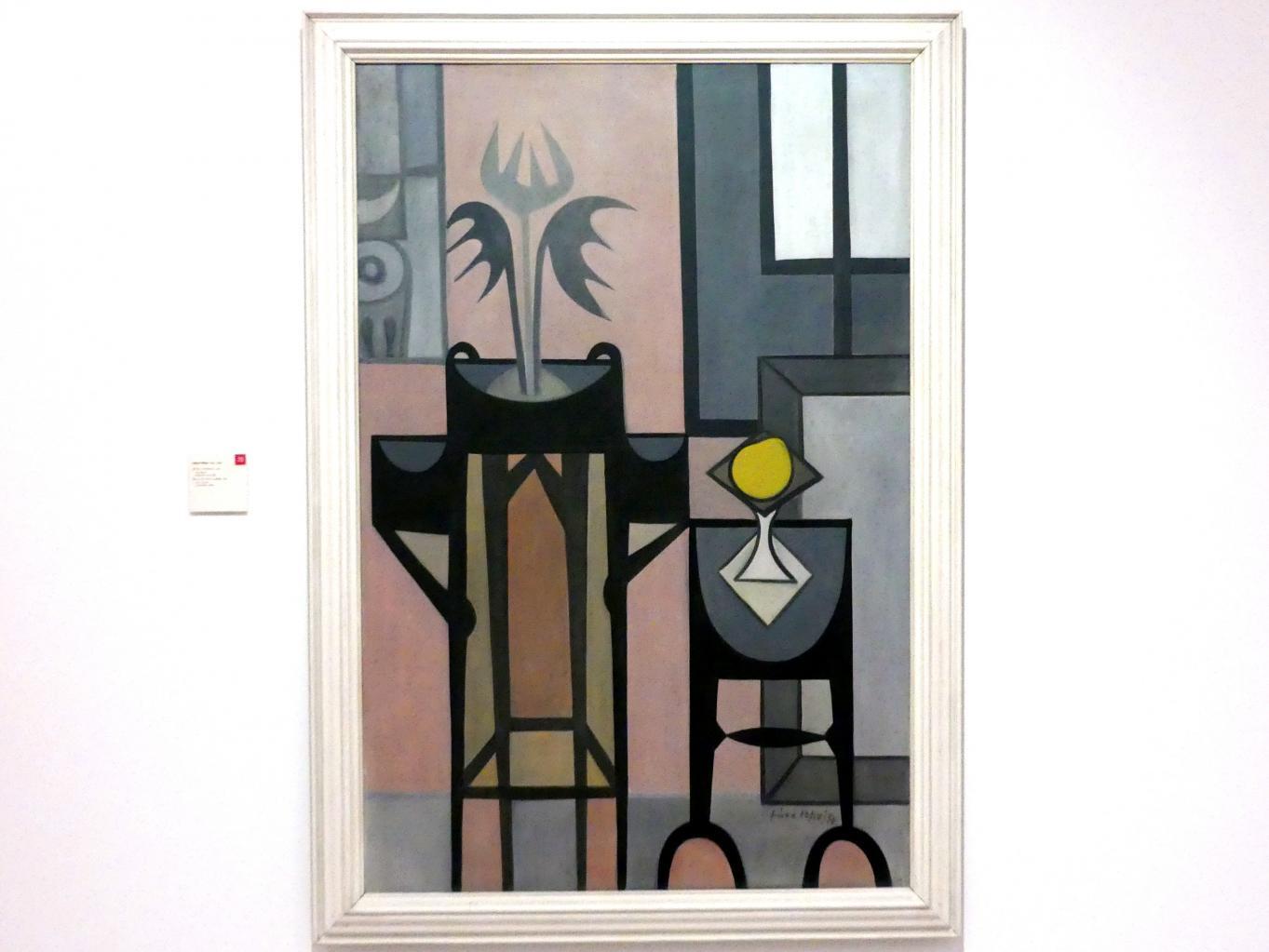 Libor Fára: Stillleben mit Blume, 1957