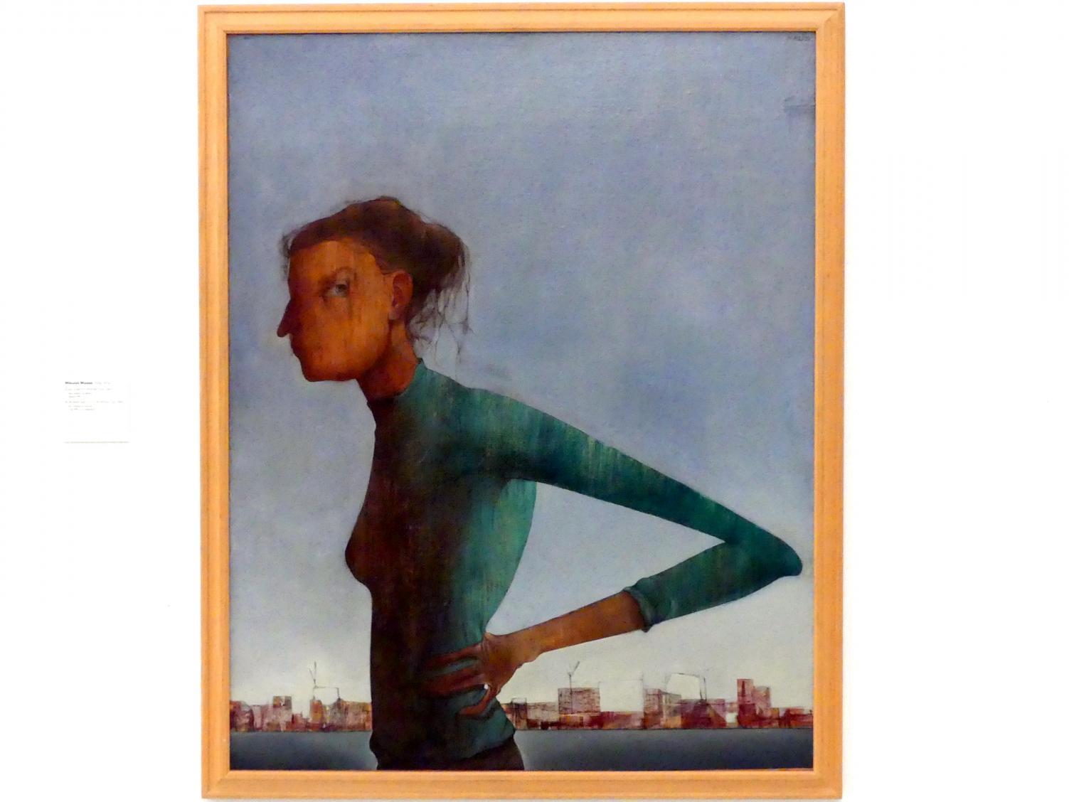 Mikuláš Medek: Frau und Stadt (Porträt 53), 1953