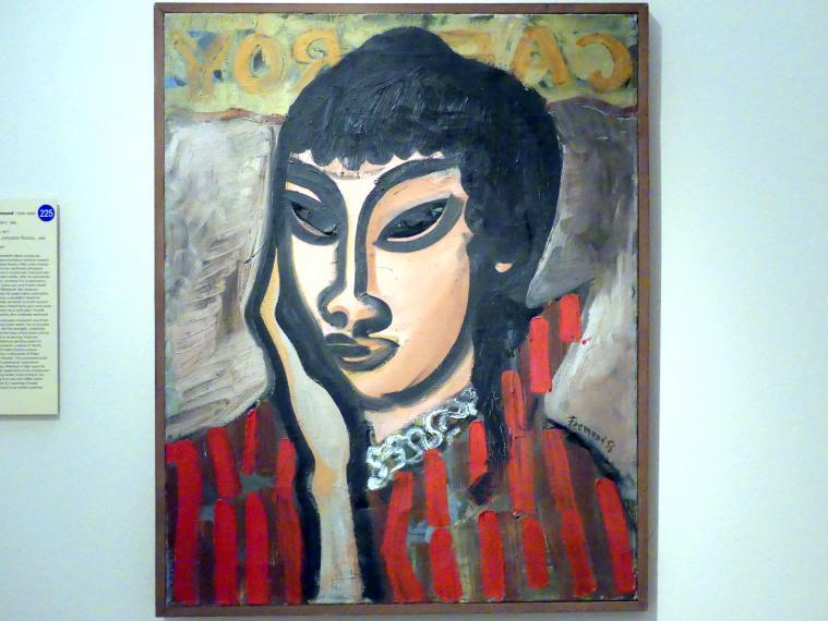 Richard Fremund: Porträt einer japanischen Frau, 1956