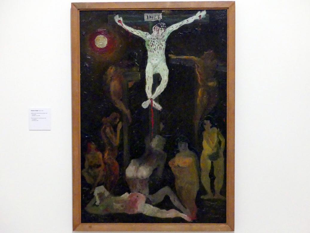 Václav Chad: Kreuzigung mit roter Sonne, 1942