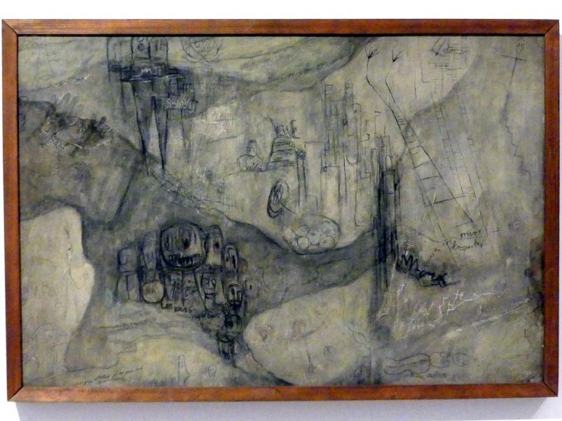 Alén Diviš: Mauer der Gefängniszelle (Erinnerung an das Gefängnis), 1941