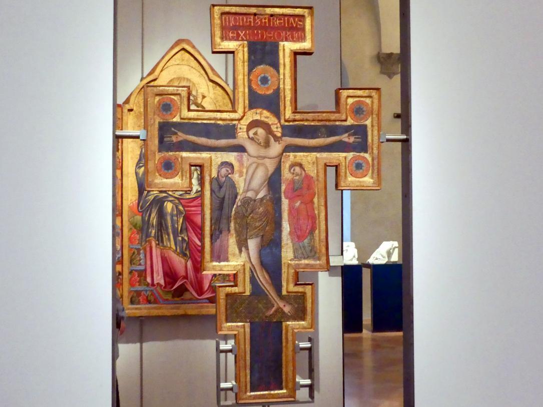 Maestro di San Francesco: Zweiseitiges Prozessionskreuz, um 1272