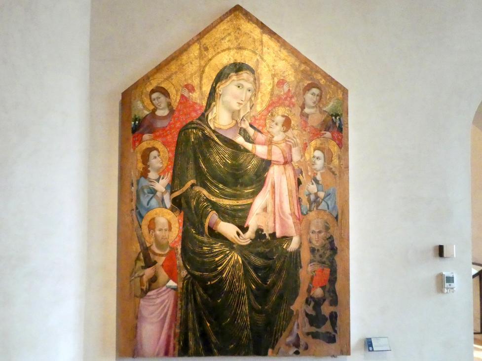 Marino di Elemosina: Maria mit Kind zwischen Engeln und den Hll. Paulus und Coelestin V., um 1313