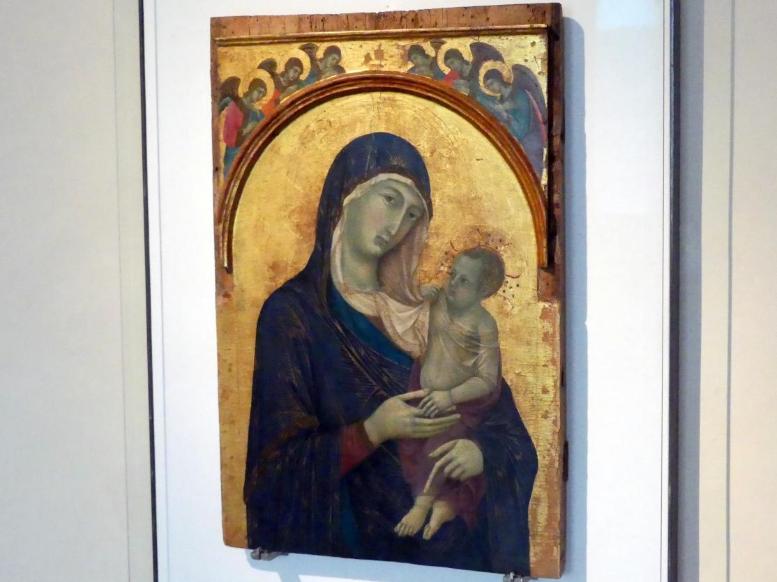 Duccio di Buoninsegna: Maria mit Kind und sechs Engeln, um 1304 - 1310