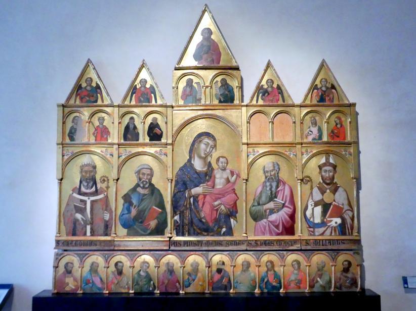 Meo di Siena (Meo da Guido da Siena): Polyptychon von Montelabate, um 1315