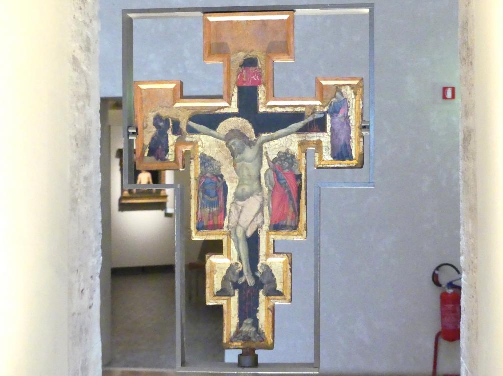 Maestro della Croce di Gubbio: Zweiseitiges Prozessionskreuz, um 1285 - 1290