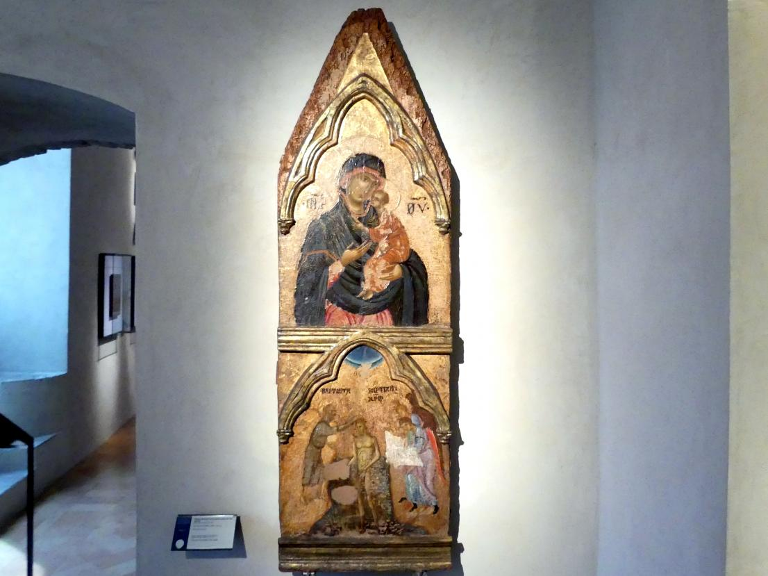 Maria mit Kind, Taufe Christi, Um 1300 - 1320